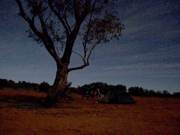 night on oodnadatta track. spectacular stars constellation
