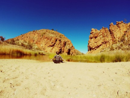 Captivating gorge, water hole, just perfect on a beautiful blue sky day!