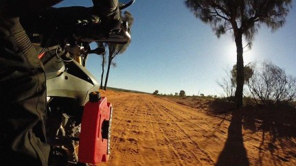 Just giving you an idea of the terrain. This is sandy and corrugated road. Totally unforgiving..guess what?....i have made it in once piece to Alice after 6000km's...eeeeyyyy!